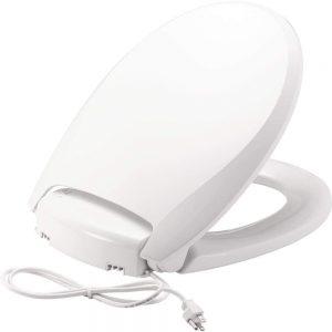 Bemis Radiance Plastic Toilet Seat, Round, White, H900NL 000 image