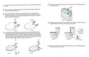 Flush Down Automatic toilet detail