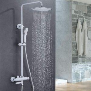 BTSSA 12 Inch Bathroom Luxury Rain Mixer Shower Combo Set