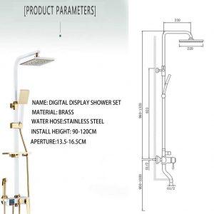 BTSSA Shower Faucets Specifications