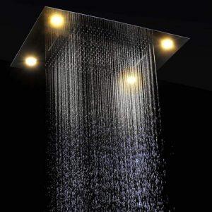 FGBFDG Large Rain Shower Bathroom Ceiling Electric Led ShowerHeads