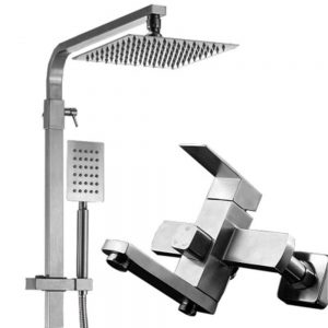 LTAYZ Square Stainless Steel Shower Set