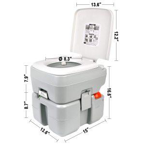 Leopard Portable Toilet 20L Size