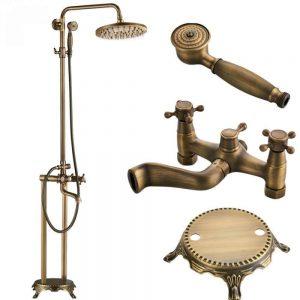 SDRFSWE Floor Mounted Bath Tub Faucet