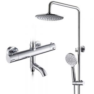 Shower Set with Thermostatic Mixer,Shower System Bathroom Luxury Rainfall