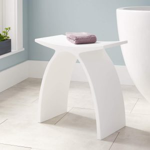 Signature Hardware 327523 Cygni Resin Bath Stool