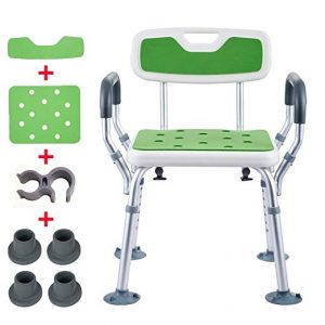 YSYD Bath Shower Seat Adjustable Height Spa Shower Chair