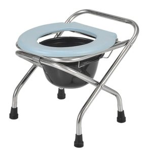 YZJJ Folding Commode Portable Toilet Seat