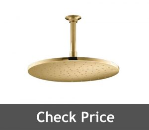 Juno Showers Gold Tone Round LED Shower Head