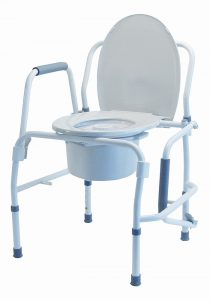 MediChoice Drop Arm Commode, Snap-On Seat