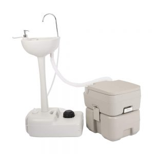 zhihuitong Outdoor Garden Camping Hand Sink with Portable Toilet