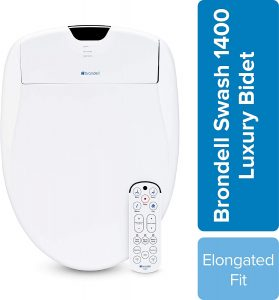 Brondell Swash 1400 Luxury Bidet Toilet Seat, Fits Elongated Toilets
